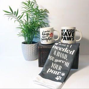 Kitchen - Set of 3: coffee mugs & kitchen towel